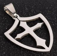 Cross Shield Necklace Stainless Steel