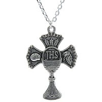 First Communion Chalice Cross Necklace