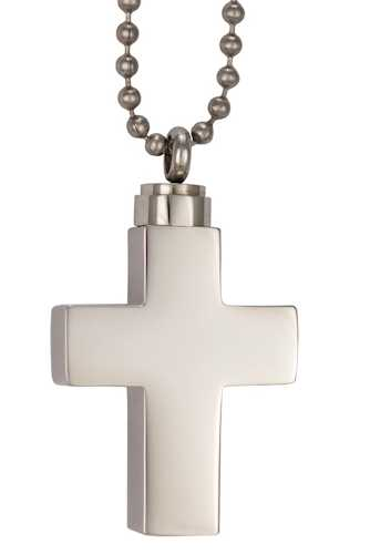 Large Cross Cremation Urn Necklace Jewelry
