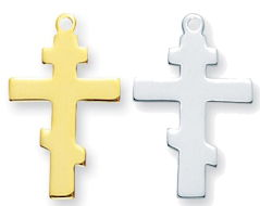 Greek Cross Sterling Silver  or Gold Plated Necklace