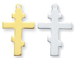 Greek Cross Sterling Silver Pendant Necklace