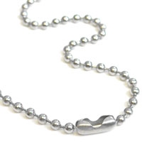 36 inch Nickel Plated Ball Chain