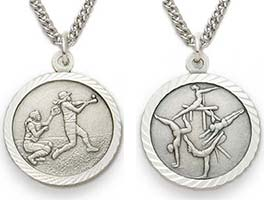 Sterling Silver Women's Catholic Sports Necklaces