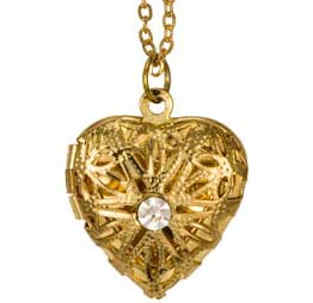 Photo Locket -  Heart Pendant Gold