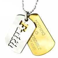 Faith Mustard Seed Stainless Steel Dog Tag