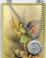 St Michael Archangel Necklace & Prayer Card