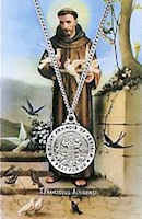 Saint Francis of Assisi  Pewter Necklace