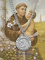 St  Anthony Necklace  & Prayer Card