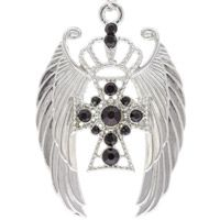 Angel Wings & Cross Pendant Set