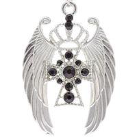 Angel Wings & Cross Pendant Set
