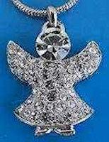 Angel Rhinestone Pendant Necklace