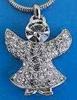 Angel Rhinestone Pendant Necklace