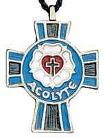 Luther Acolyte Cross Pendant Lutheran