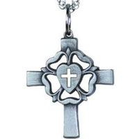 Lutheran Rose Cross Necklace
