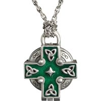 Celtic - In Loving Memory Ash or Flower Locket Necklace