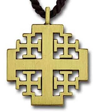 Jerusalem Cross Pendant Gold