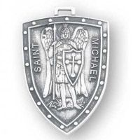 St Michael Shield Sterling Necklace