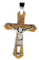 Stainless Steel Crucifix Gold Necklace