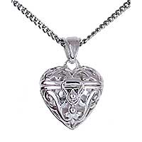 Sterling Silver 'Treasures of Love' Heart Locket