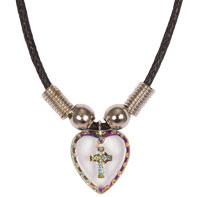 Hologram Cross Heart Necklace