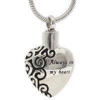Always in My Heart Memorial Necklace