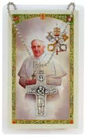 POPE FRANCIS Pectoral Cross Necklace, Prayer Card