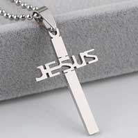 Cross Jesus Necklace Stainless Steel