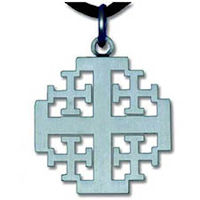 Jerusalem Cross Pendant Pewter
