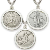 Sterling Silver Female Christian Sports Necklaces - 6 Sports