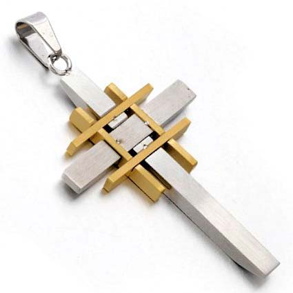 Jerusalem cross jesus necklace stainless steel gold aloadofball Images