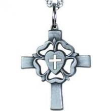 Luther Rose Cross Pewter