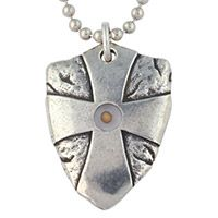 Mustard Seed Shield Necklace - Matthew 17:20