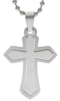 Cross on Cross Stainless Steel Pendant