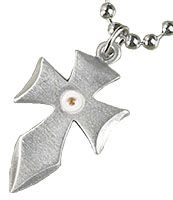 Mustard Seed Flared Cross Necklace
