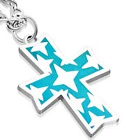 Bethlehem Stars on Cross Pendant