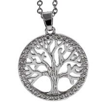 Tree of Life Round Silver Necklace