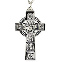 High Celtic Cross of Ireland Necklace Pendant