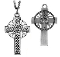 Celtic Thunder & Lightning Cross Necklace