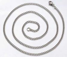 Curb Chain Stainless Steel 2.4mm x 20 Inches