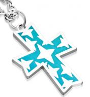 Stars on Cross Pendant