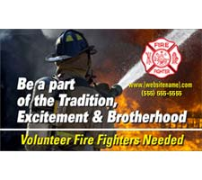 Fire Department Brotherhood Recruitment Outdoor Banner