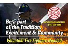 Fire Department Community Recruitment Outdoor Banner
