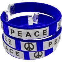 Peace Silicone Bracelets Wrap