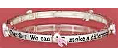 Breast Cancer Bangle Bracelet