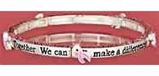Breast Cancer Bangle Bracelet