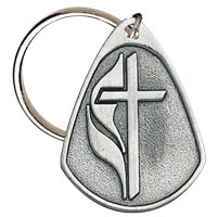 United Methodist Pewter Key Tag