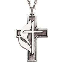 United Methodist Cross Necklace
