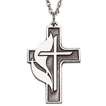United Methodist Cross Necklace