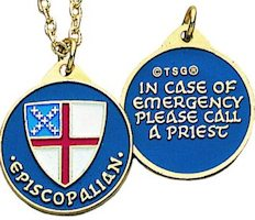Episcopal Identifier Necklace Gold Plated