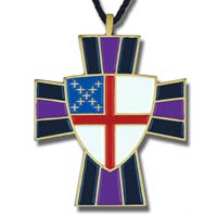 Episcopal Shield and Cross Necklace
